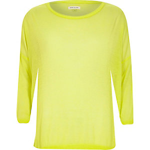 Yellow lightweight sheer slouchy top