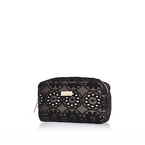 Black lace make up bag