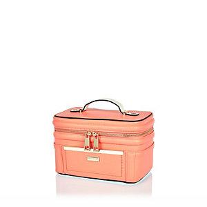 Coral zip vanity case
