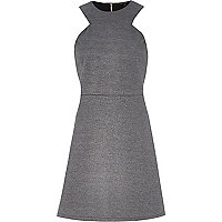 Grey sleeveless A line dress