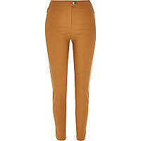 Tan skinny trousers