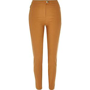 Tan skinny trousers