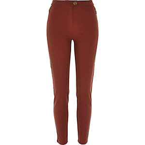 Brown skinny trousers