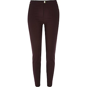 Dark purple skinny trousers
