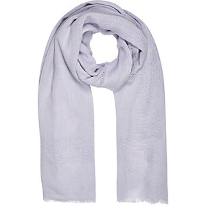 Light purple ladder border scarf
