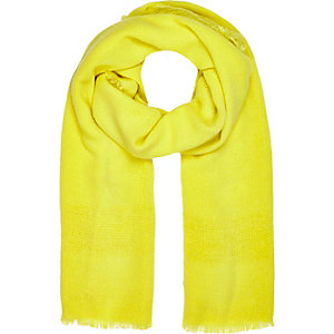 Yellow ladder border scarf