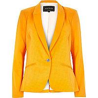 Bright orange long sleeve tailored blazer
