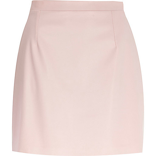 light pink leather look a line skirt skirts sale