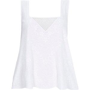 White lace insert vest