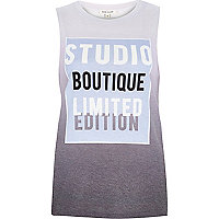 Purple ombre studio print tank top