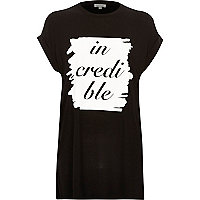 Black jersey incredible oversized t-shirt