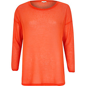 Coral side split top