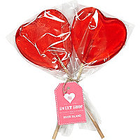 Red heart lollies pack