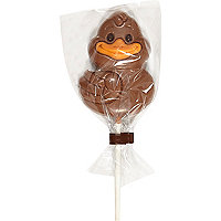 Chocolate duck lolly