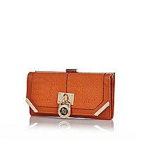 Orange padlock purse