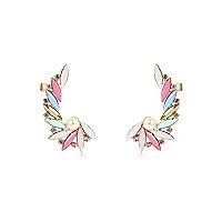 Multicoloured gem colour pop ear cuffs