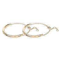 Gold tone ankle cuffs pack