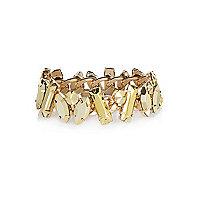 Gold tone chunky stone bracelet