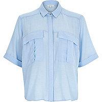 Blue chambray pocket shirt