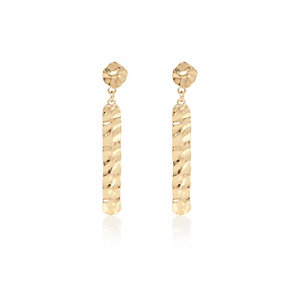 Gold tone dangle front and back earrings