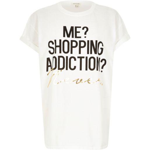 http://click.linksynergy.com/fs-bin/click?id=kZ*EJmrNyQE&subid=&offerid=321304.1&type=10&tmpid=12354&RD_PARM1=http%3A%2F%2Feu.riverisland.com%2Fwomen%2Ft-shirts--vests--sweats%2Fprint-t-shirts--vests%2FWhite-shopping-addicition-oversized-t-shirt-668489