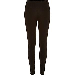 Black zip back leggings
