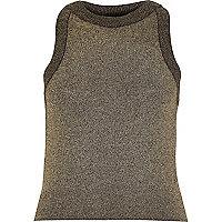 Gold metallic vest
