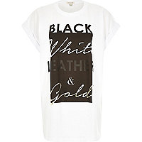White slogan boyfriend t-shirt