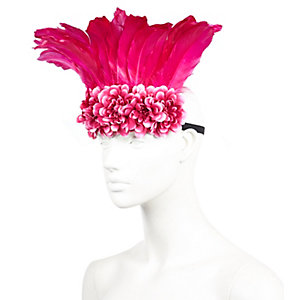 Pink feather festival hairband