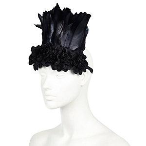 Black feather festival hairband