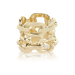 Gold tone chain ring
