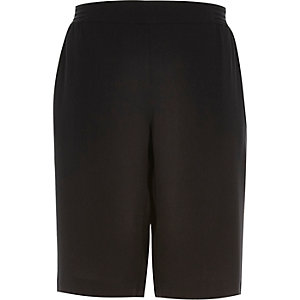 Black sporty side stripe shorts