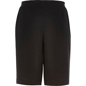 Black sporty side stripe shorts