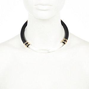 Black perspex torque necklace