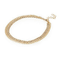 Gold tone multi chain anklet