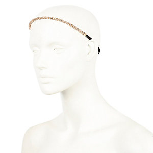 Gold tone bobble hairband