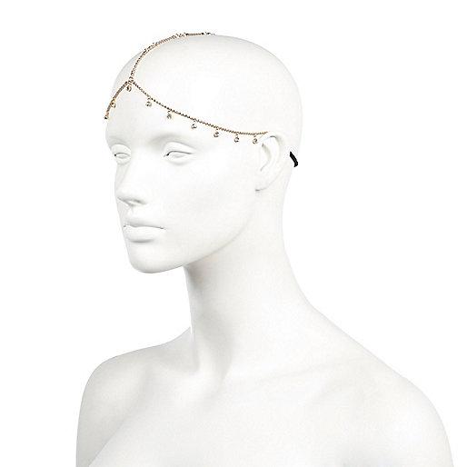 Gold tone diamante hair crown