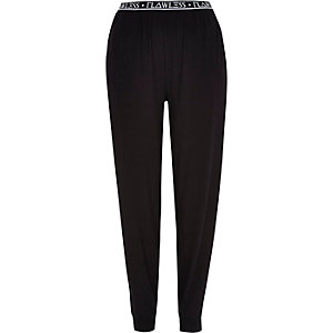 Black jersey flawless waistband joggers