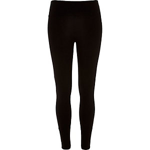 Black high waisted extra short leggings