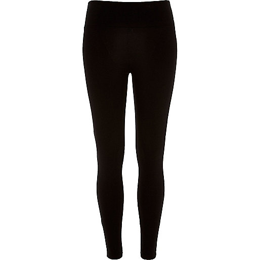 Black high rise short leggings