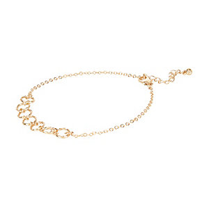 Gold tone circle anklet