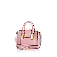 Pink mini frame flap handbag