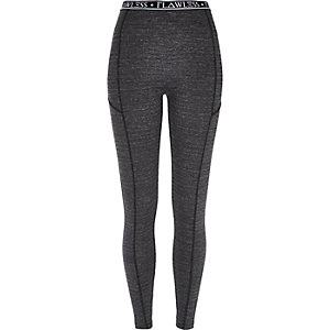 Grey flawless waistband leggings