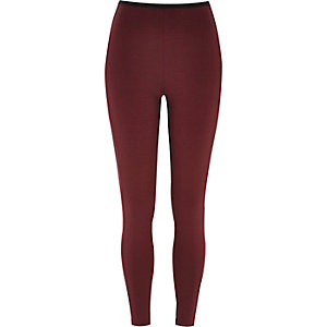 Dark red premium jersey leggings
