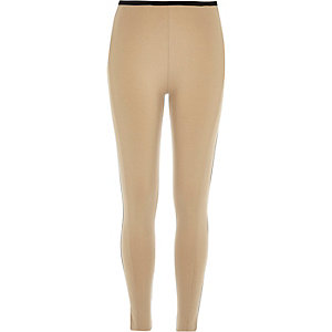 Light brown premium jersey leggings