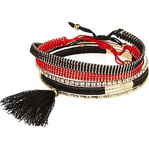 Mixed woven tassel bracelet pack
