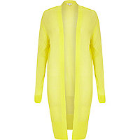 Yellow lightweight sheer cardigan