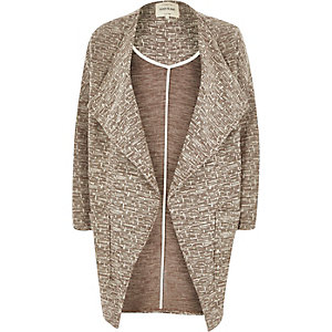 Brown slouchy cocoon jacket