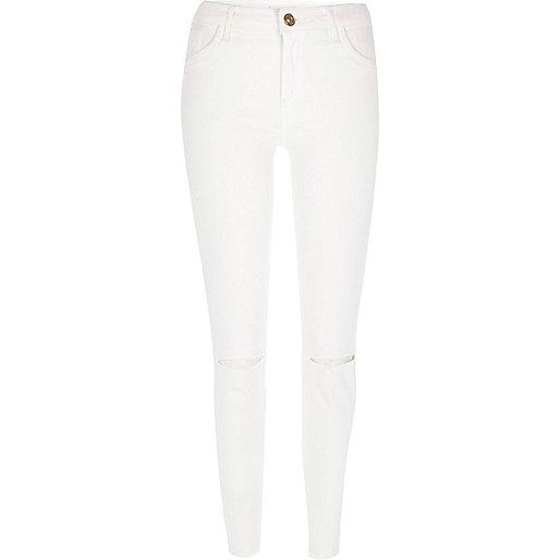 Amelie - Weiße superskinny Jeans