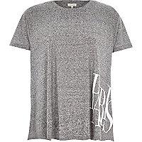 Grey space dye Paris print swing t-shirt